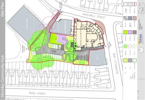 Stirchley Baths Site Plan