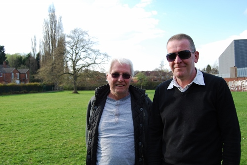 Peter Evans and fellow Friends of Stirchley Park member Brian Sheridan