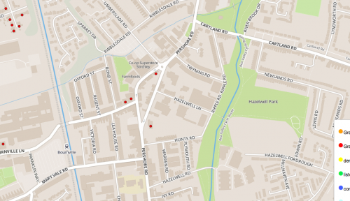 Heritage Map of Stirchley