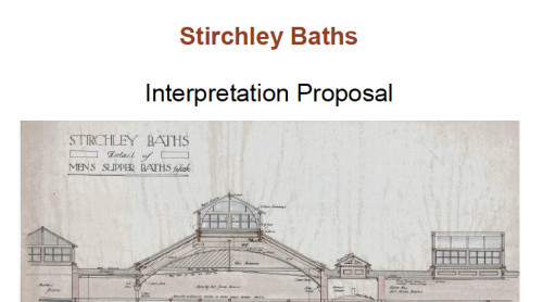 Stirchley Baths Interpretation Proposal - click on the image to download the whole document