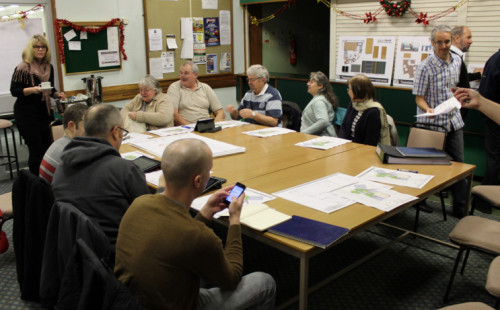 Stichley Baths Steering Group meet to go through detailed plans