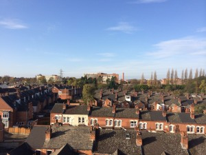View of Cadbury's from Stirchley Baths roof.