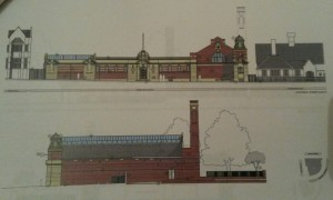 Re-produced original plans from C.1910.