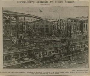Kings Norton Station fire 1914.