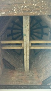 Underneath the cupola.