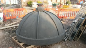 Cupola number 2, waiting to go up.
