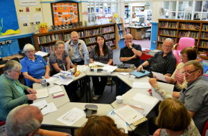 The second meeting, hosted at Stirchley Library.