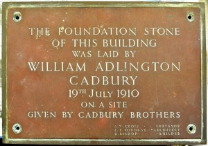 Stirchley Baths Foundation Stone, 1910.