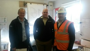 Jon, Martyn and Tony are building your community centre.