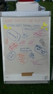The suggestions board at the Late Summer Bash.