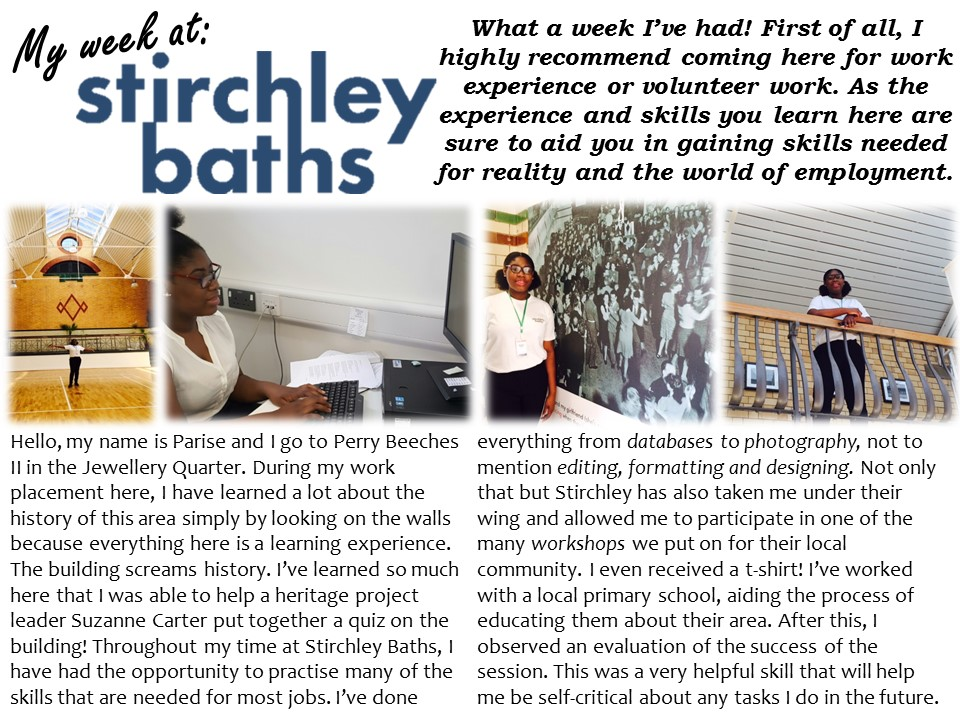 Stirchley Baths Blog Entery