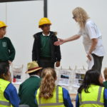 Suzanne Carter working with children from Stirchley Community School